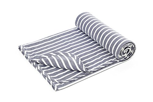 Henry and Bros. Large Double Layer Toddler Blanket, Light Blanket For Kids, Girl Nap Blanket/Boy Nap Blanket, Made Of 100% Cotton (Clean Navy and White Stripe) (Dark Navy and - Bro Dark
