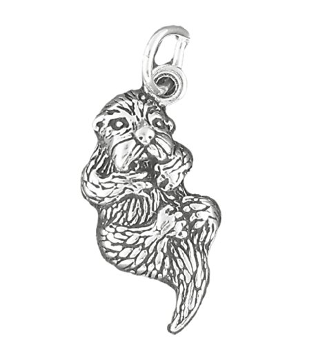 Corinna-Maria 925 Sterling Silver Sea Otter Charm by Corinna-Maria Charms