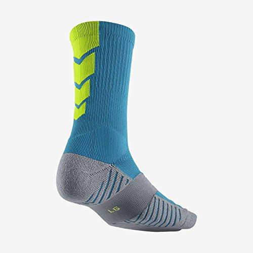 Nike Elite Socks (blue/green) M (Nike Elite Soccer Socks Green)