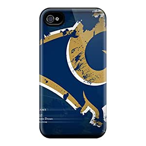 Shock Absorption Hard Phone Covers For Iphone 6 With Provide Private Custom Beautiful St. Louis Rams Image DrawsBriscoe
