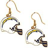 NFL San Diego Chargers Women's J Hook Dangle Logo Earring Set, One Size, Multicolor