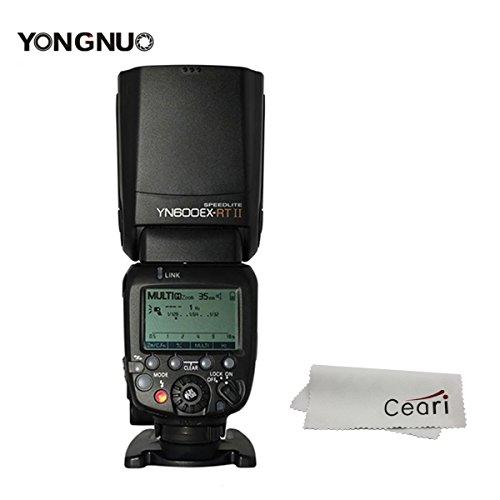 YONGNUO YN600EX-RT II 2.4G Wireless 1/8000s HSS GN60 5600K Master TTL Flash Speedlite for Canon Camera by Yongnuo