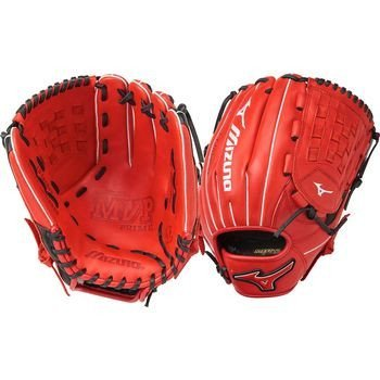 Mizuno MVP Prime Special Edition Baseball Glove, Red Black, 12