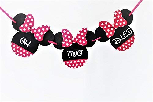 Oh Twodles Birthday (Minnie Mouse Birthday Banner - ONE Birthday Banner - OH TWO DLES! Minnie mouse party supplies - Minnie Mouse Theme Birthday Party Supplies - Minnie Mouse Party Decoration (Oh two)