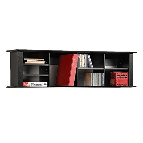 Bowery Hill Wall Display Shelf in Black by Bowery Hill