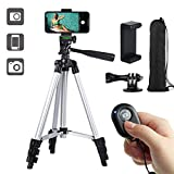 "Paladinz Phone Tripod 42"" Inch Aluminum Lightweight Tripod for iPhone Cell Phone Tripod"