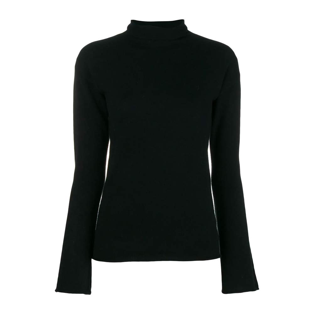 0214ba41de Amazon.com: Theory Womens Cashmere Roll Neck Jumper Black S: Clothing