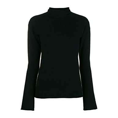 b6ab4f33cb Image Unavailable. Image not available for. Color: Theory Womens Cashmere  Roll Neck Jumper Black S