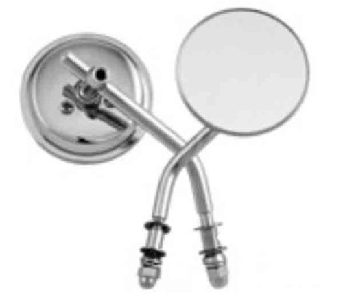 HardDrive Universal Round Mirror - Chrome - Left/Right - 3in. with 4in. Stem 60-0016