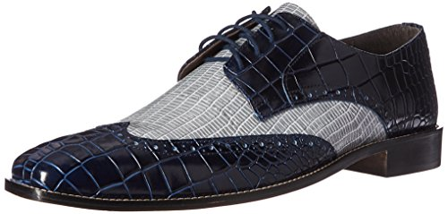 Stacy Adams Men's Giordano Oxford, Blue/Light Blue, 14 M US - Crocodile Leather Shoes