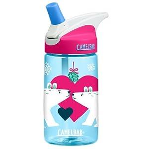 Camelbak eddy Kids .4L BPA Free Drinking Water Bottle w/ Bite Valve & Straw Excellent Winter Holiday Christmas Gift For Children (Kissing Bears)
