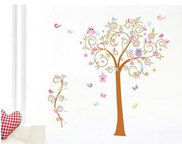 Hallobo Wandtattoo Eulenbaum Baum Eulen Eule Vogel Wandaufkleber