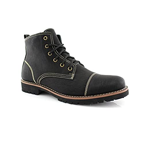 low priced dba0a ed4c8 delicate Ferro Aldo MFA-506019F Men's Brown Lace Up Cap Toe ...