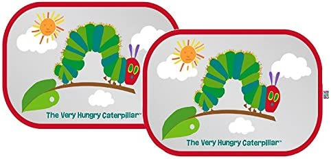 Erlic Carle : The Very Hungry Caterpillar Car Window Shade - Pop Open Cling Sun Shade Set w/ UV Protection by Eric Carle