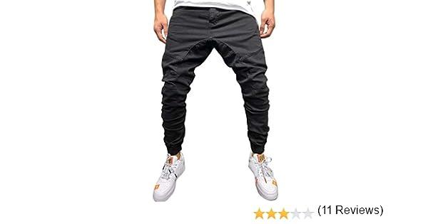 YiYLinneo Pantalones Hombre Pitillo Bolsillo Moda Pantalones ...