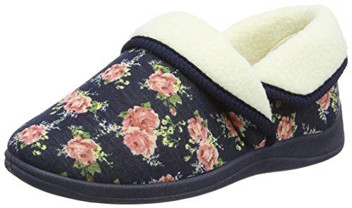 Dunlop Faye, Zapatillas de Estar por Casa para Mujer Azul - azul (Navy)