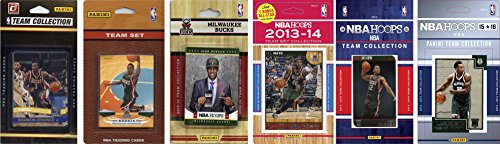 NBA Milwaukee Bucks 6 Different Licensed Team Set Trading Card by C&I Collectables