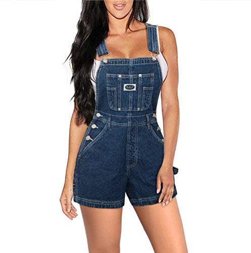 HyBrid & Company Womens Stretch Denim Overalls Short-SHVJ151120-BLUE-M