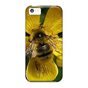 linJUN FENGAwesome Cases Covers/iphone 4/4s Defender Cases Covers(yellow Black Bee On Yellow Flower)