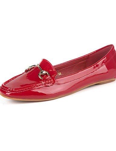 Ballerine Donna squadrata Comoda Casual Scarpe Grigio Rosso Rosa Chiusa Animal Finta Piatto Black Punta ShangYi pelle Nero 5nqxwE5Y