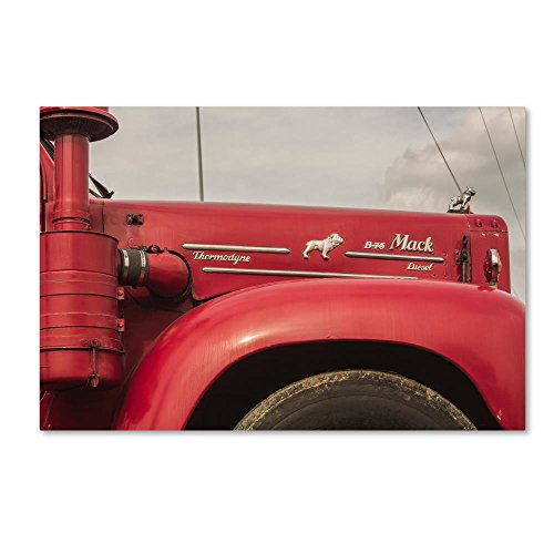 (Mack Truck by Jason Shaffer, 16x24-Inch Canvas Wall Art )