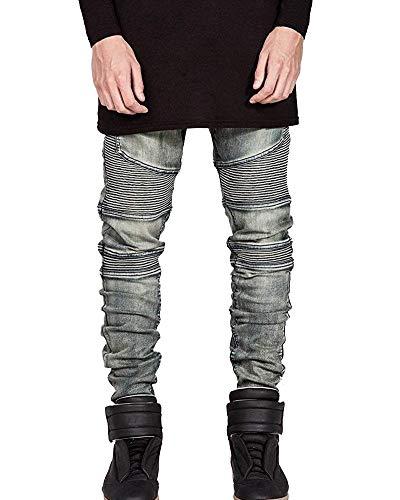Jeans Extensible coloré Fit 33 Motard Taille Pantalon Bronze Slim Noir pOwIZrXpxq