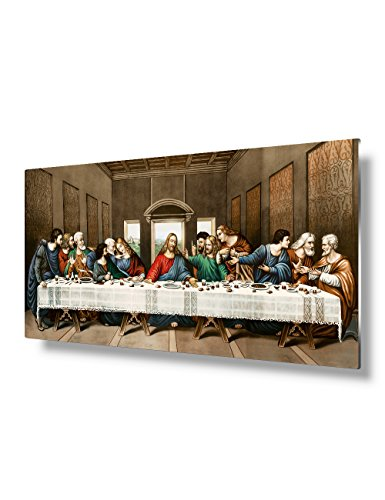 12 Supper Disciples Last (DecorArts - The Last Supper, Leonardo da Vinci Classic Art Reproductions.. Metal Print 24x16