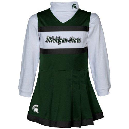 Cheerleader Dress Piece 2 (Michigan State Spartans Youth Girls 2-Piece Turtleneck & Cheerleader Dress (Yth M))
