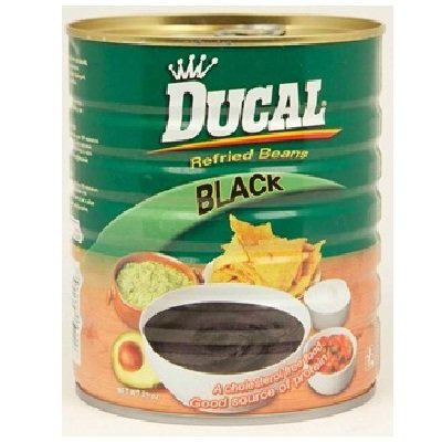 Ducal Bean Refried Black 29 OZ (Pack of 12) by Ducal