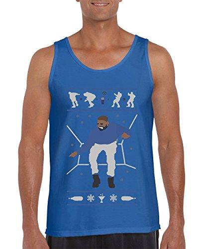 H&T Shirt Tank Tops for Men Hotline Bling Drake Men's Tank Top Shirts(Blue,Large) ()