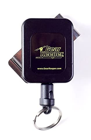 Gear Keeper RT4-5851 RT4 Medium Force 8-14 Key Retractor with Stainless Steel Rotating Belt Clip, 60 lbs Breaking Strength, 6 oz Force, 36