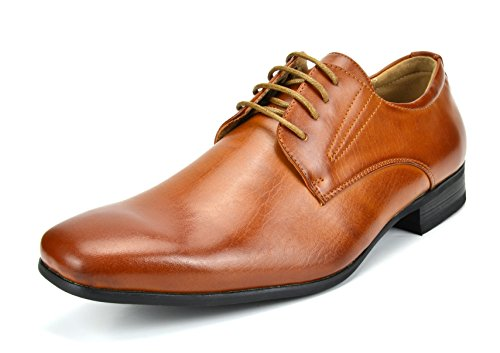 Bruno Marc Men's Gordon-03 Brown Leather Lined Snipe Toe Dress Oxfords Shoes...