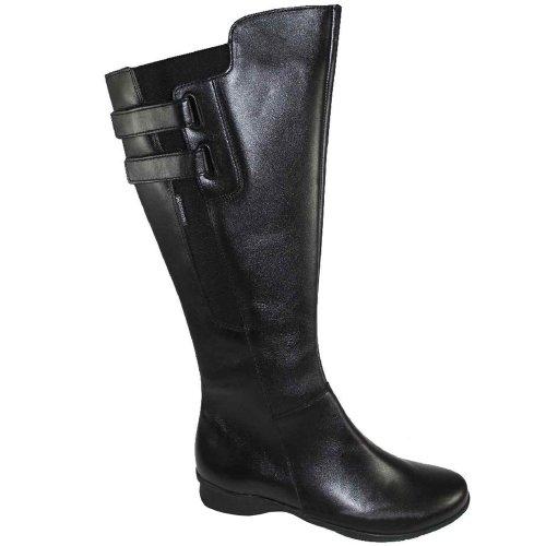 Mephisto-Calzado de plástico, cuero SOFY 1200-para mujer, color negro