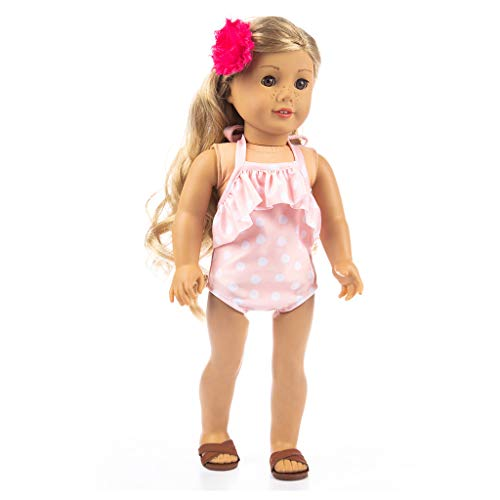Gift! WensLTD Adorable One-Piece Swimsuit Clothes for 18 inch Doll Accessory Gril's Toy (C)]()