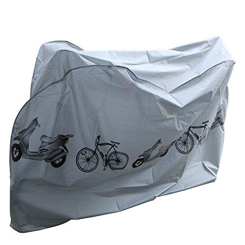 Fahrradabdeckung Wasserdicht,Nakeey Fahrradgarage Gewebeplane Schutzhülle-Wasserdichte Schutzhülle Fahrradschutzhülle für Fahrräder 210x 100 cm passend für die meisten Fahrradschutzhülle