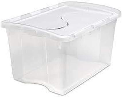 Casa D Or Grande Boite De Rangement En Plastique Transparent Empilable Avec Couvercle En Plastique 120 L Amazon Fr Cuisine Maison