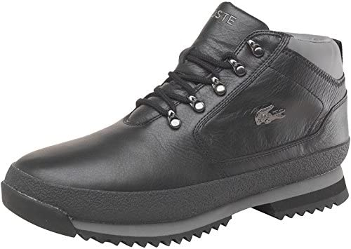 Lacoste Mens Upton Leather Boots Black