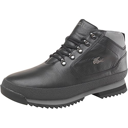 b3b05ace70ef8 Lacoste Mens Upton Leather Boots Black Grey  Amazon.co.uk  Shoes   Bags