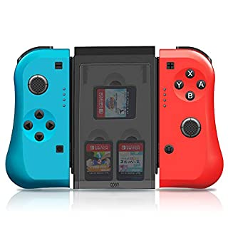 Joy-Con Controller for Nintendo Switch, MAXKU Joycon Pad L/R with 3 Storage Slots Comfort Grips 6-Axis Gyro Wireless Switch Joy-Con Joystick Remote Controller for Nintendio Switch- Red and Blue