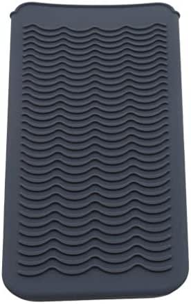 YESMAEA Curling Iron Holder Heat Resistant Silicone Mat Heat Resistant Silicone Mat Pouch Hair Styling Tools,Gray
