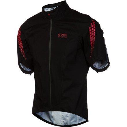 Gore Bike Wear Men's Xenon Gore-Tex Active Shell Short Jacket, White/Black, Small