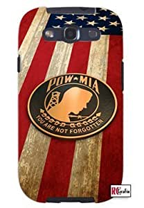 Cool Painting Pow MIA Prisoner Of War American Flag Unique Quality Soft Rubber Case for Samsung Galaxy S4 I9500 - White Case