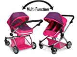 Deluxe Twin Doll Pram/Stroller -Pink by Doll Strollers Pro