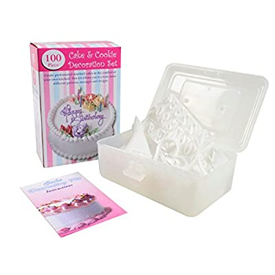 Bradex 100 Piece Cake Decorating Kit, Instruction and Decorating Idea Book