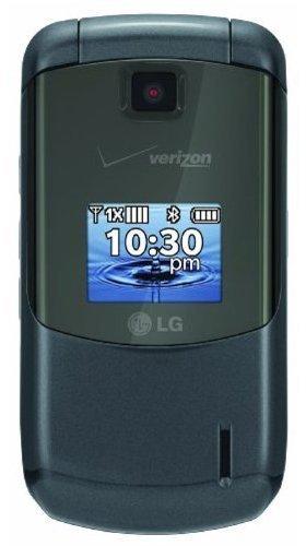 (LG Accolade - Prepaid Flip Phone - Dual Color Displays, 1.3MP Camera, GPS Navigation, Bluetooth, Slate Grey (Verizon))