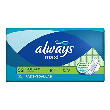 Always Maxi Long Super With Flexi-wings, 32-Count Packages by Always