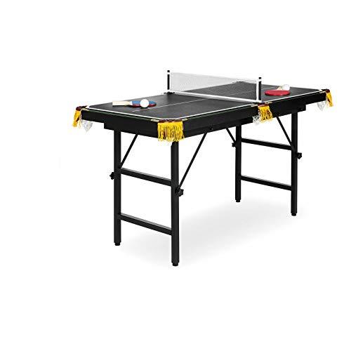 Pooltana Portable Folding Mini Kids 2-in-1 Ping Pong Billiards Pool Table Set Arcade Game Tennis Kid (2 In 1 Pool Table And Table Tennis)