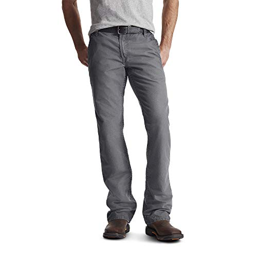 ARIAT Men's Fr M4 Relaxed Workhorse Boot Cut Pant Fr Medium Gray Size 35W X 30L