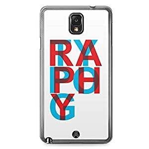 Designer iPhone Samsung Note 3 Tranparent Edge Case - Typography