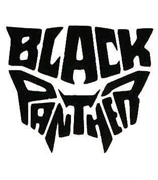 - Black Panther Logo Word Decal Vinyl Sticker|Cars Trucks Vans Walls Laptop| BLACK |5.5 x 5 in|CCI1608